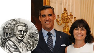 Announcing the Inaugural Saint Augustine Medal and recipients Patty and Jay Wright