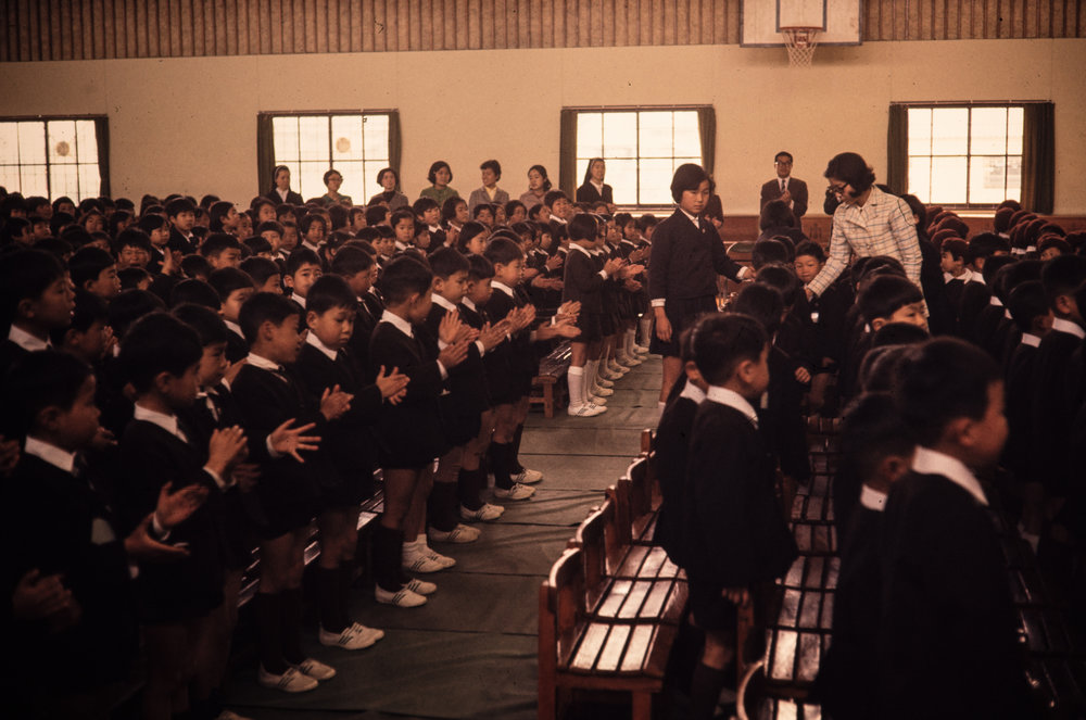 Nagasaki kindergarten students.