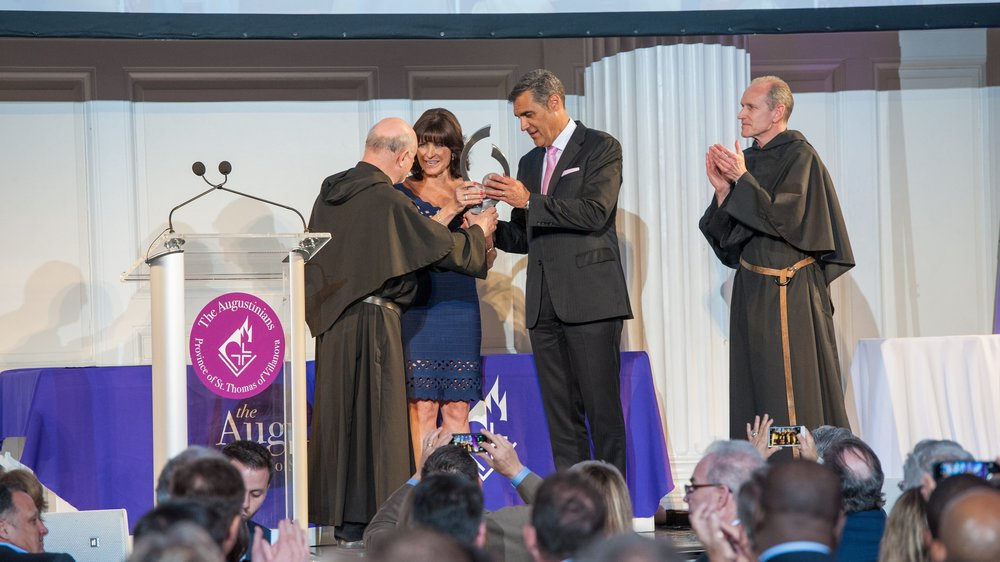 Patty & Jay Wright Receive Inaugural Saint Augustine Medal