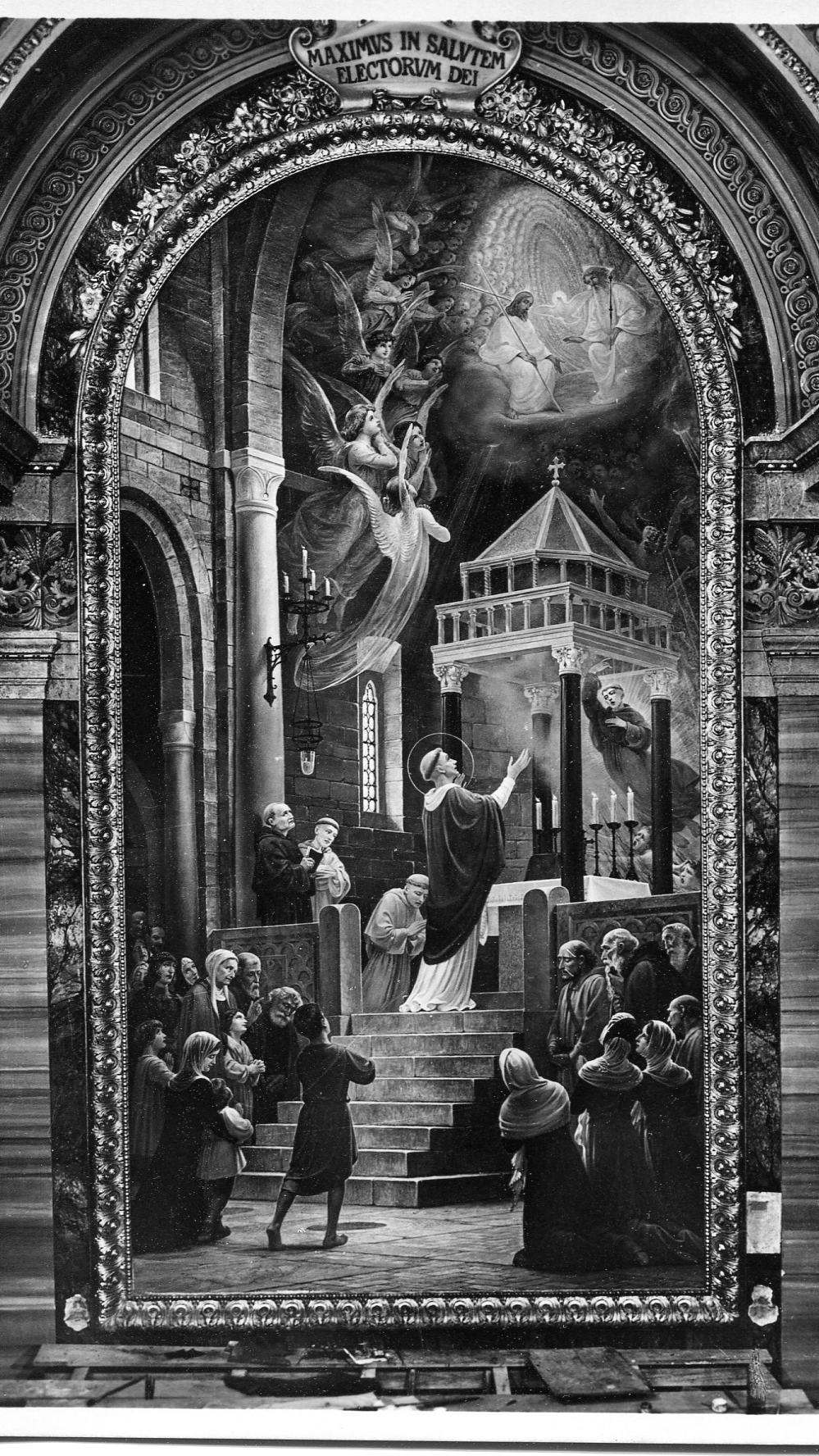 Tolentino, Italy -- Altar at Basilica di S. Nicola, Augustinian Saint Nicholas of Tolentine