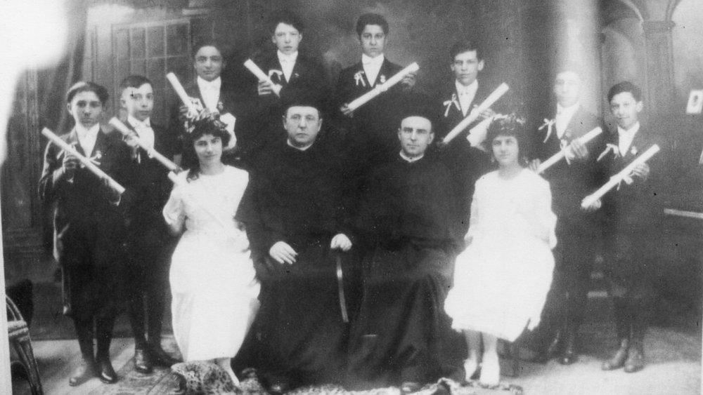 1918- The first graduating class of St. Rita of Cascia's School