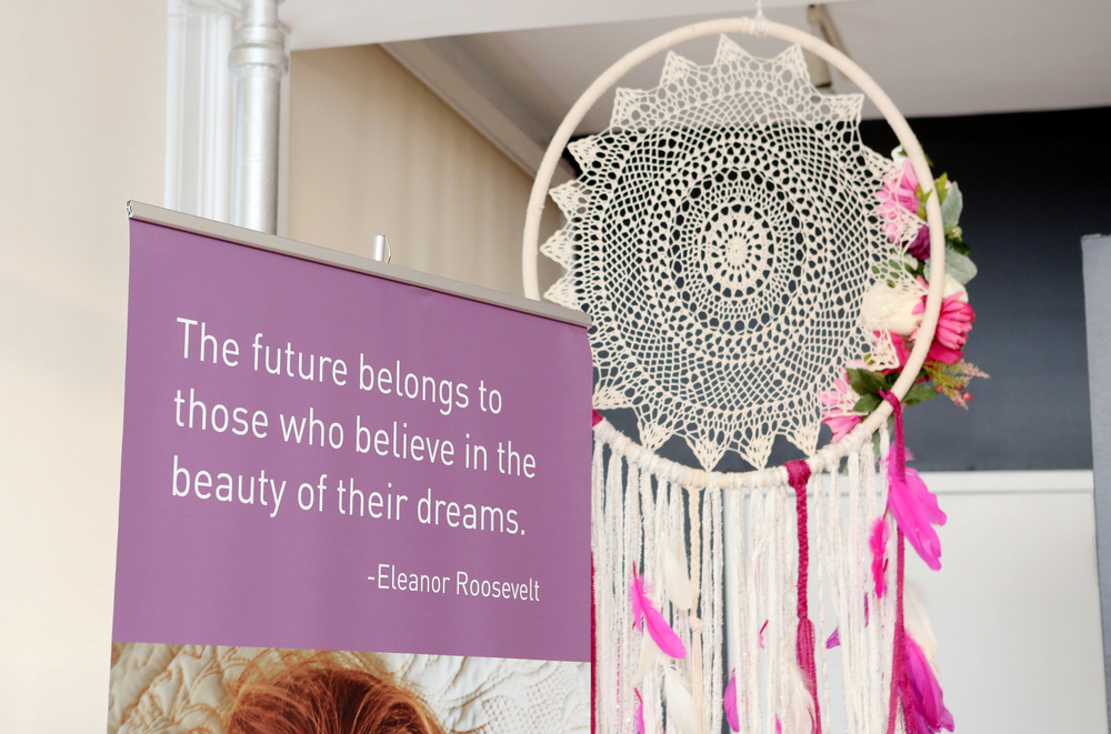 A Dream Hair event would hardly be complete without one of our favorite dream quotes and a custom made dream catcher.