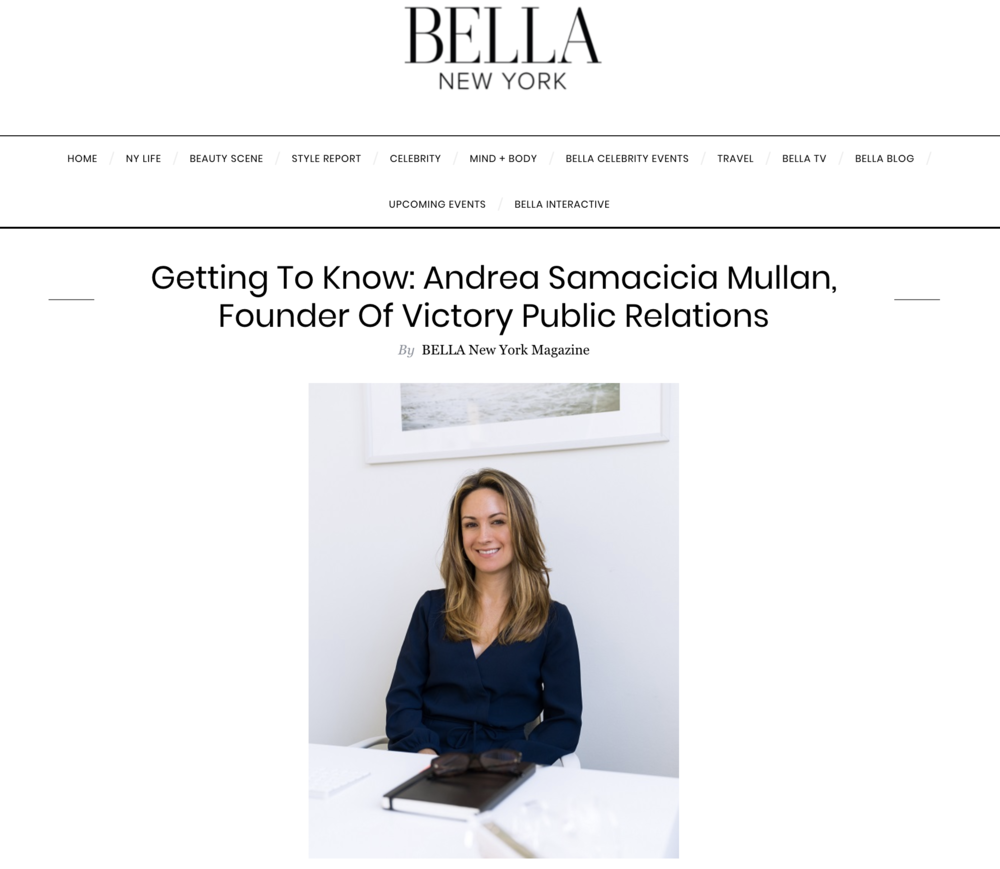 Andrea Samacicia Mullan featured on BELLA New York