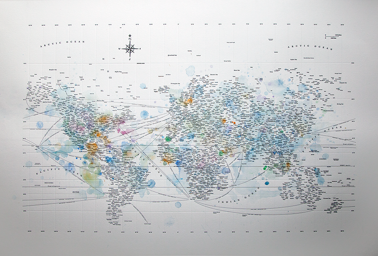 Typographic world map watercolor design ahoy typographic world map watercolor wcmap2nov9g gumiabroncs Images