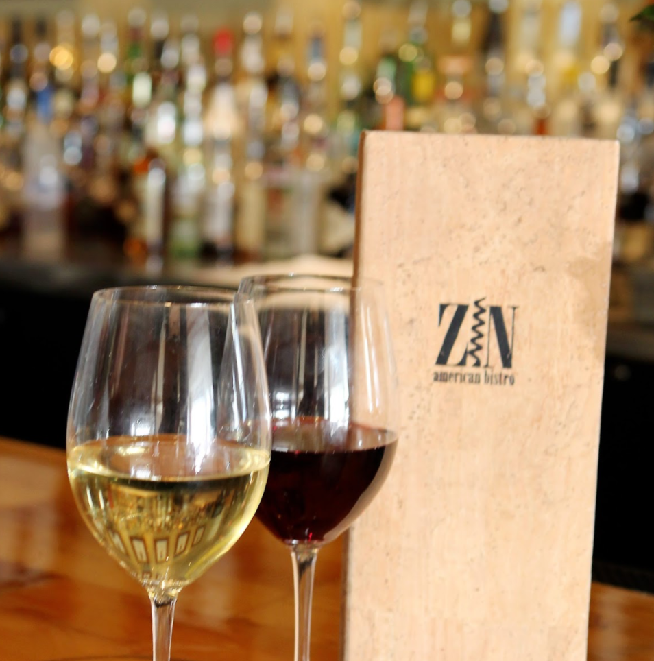 Enjoy a glass and a smile from the friendly staff at Zin.