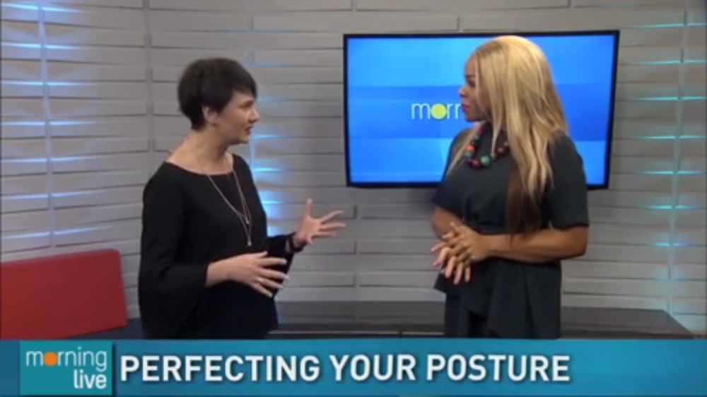 Head over to  CHCH Morning Live  to watch the full segment and learn the benefits of perfecting your posture + 3 great stretches that you can do now to improve your posture!