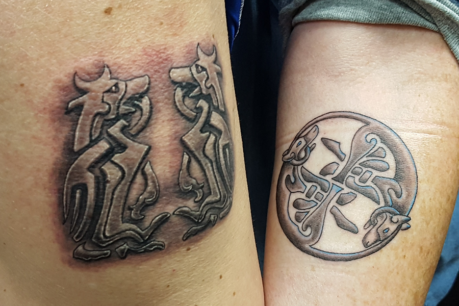 Matching tattoos for couple