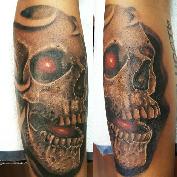 Skull red eyes