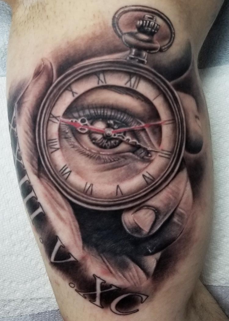 Clock eye hand