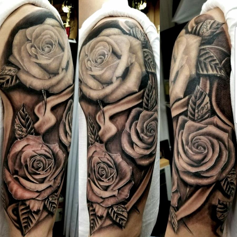 roses half sleeve