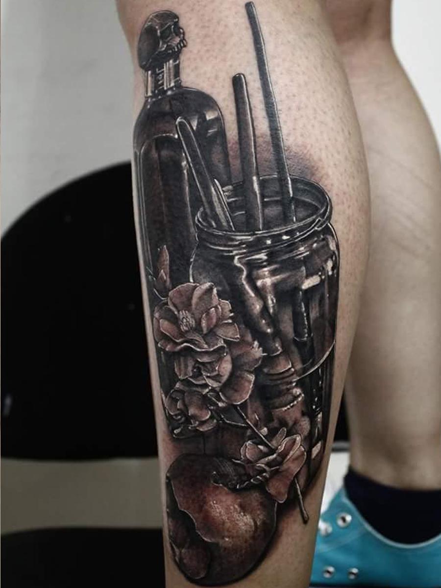 rose black art