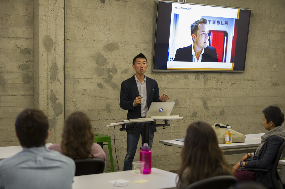 Michael Lai from Minerva Schools KGI giving a talk at Changemaker Summit SF