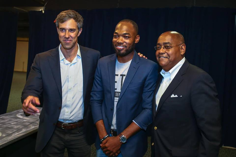 I tried my best not to take this photo but Beto and Commissioner Ellis made me. This was a very proud moment for me. Commissioner Ellis helped develop me into a leader who could handle the challenges of working with a great leader like Beto.