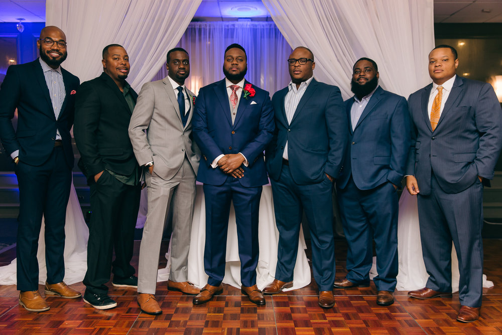 These are the guys I grew up with. These are the guys that have held me down since Day 1. We are all blessed to be very successful African American men from Jackson, MS. Very thankful to Daniel & Victoria for allowing us to play a part in their special day.