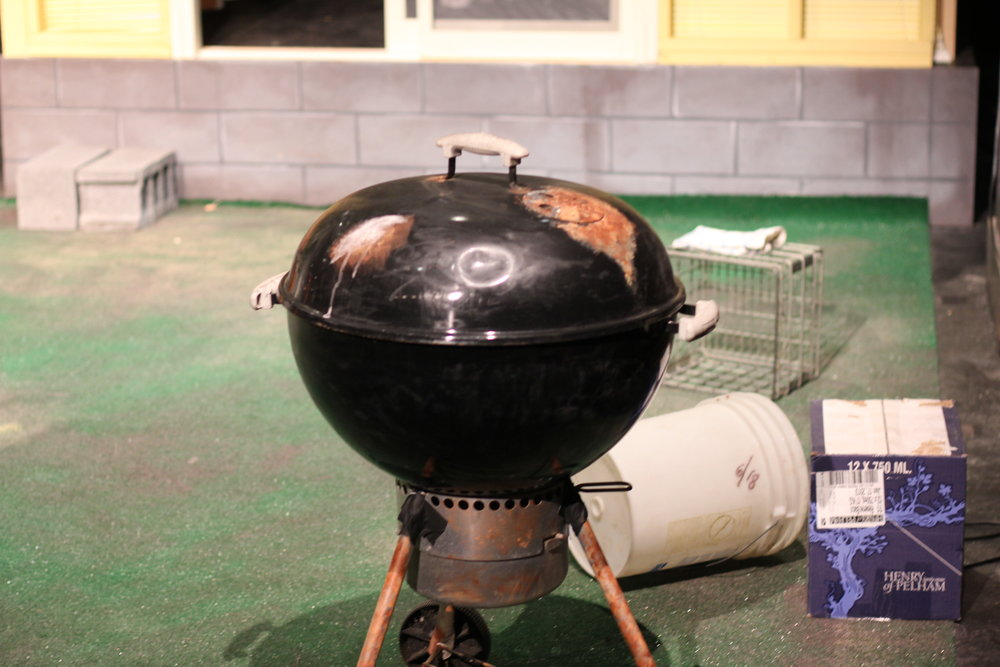 Distressed Charcoal Grill