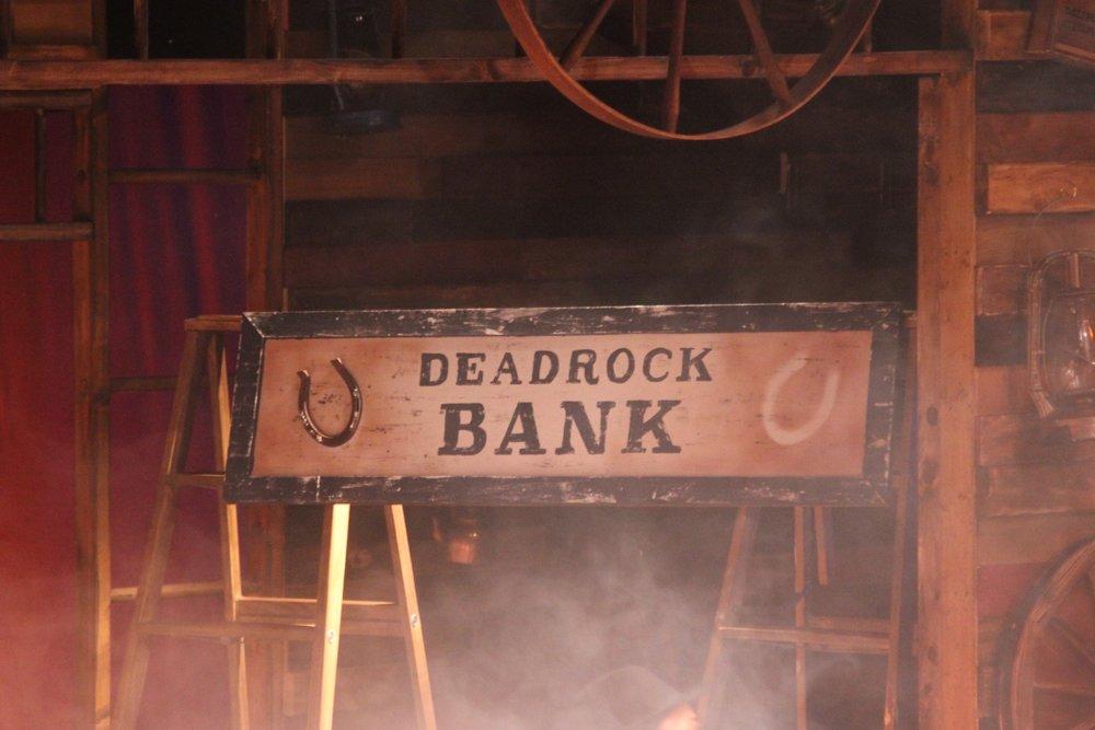 Deadrock Bank Sign