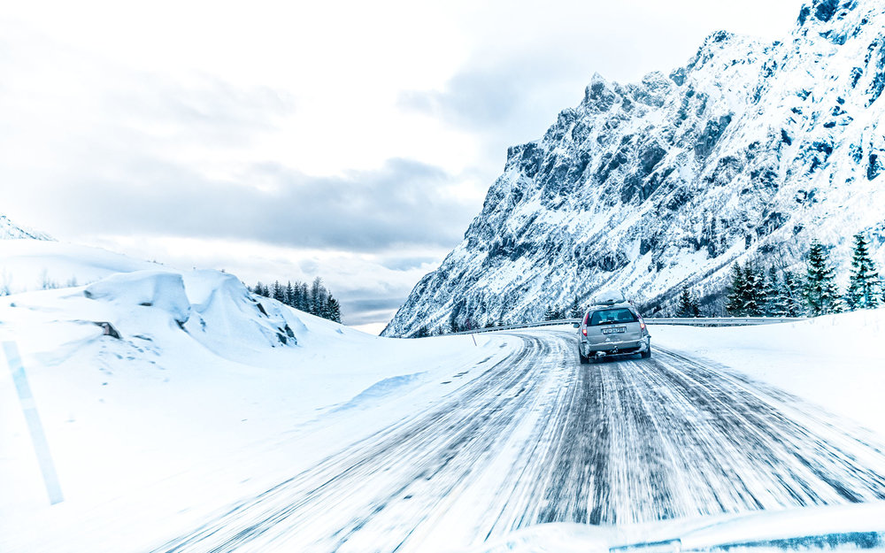 Norway - Winter Driving by Kent Miklenda