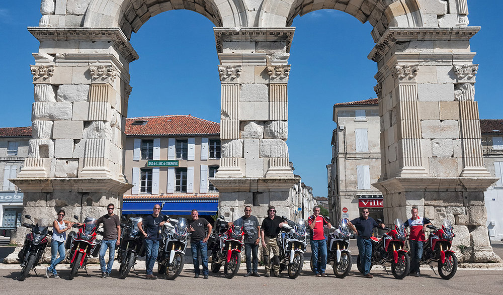 ADN Honda Gognac riders-Germanicus Arch-Saintes-Charente