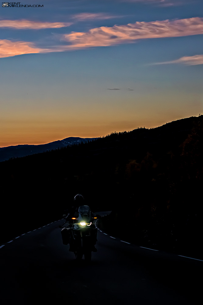Africa Twin at sunset