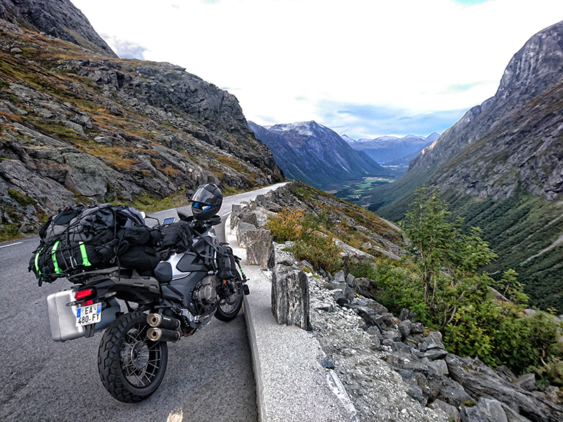 At the top of Trollstigen (Troll's Path) Norway