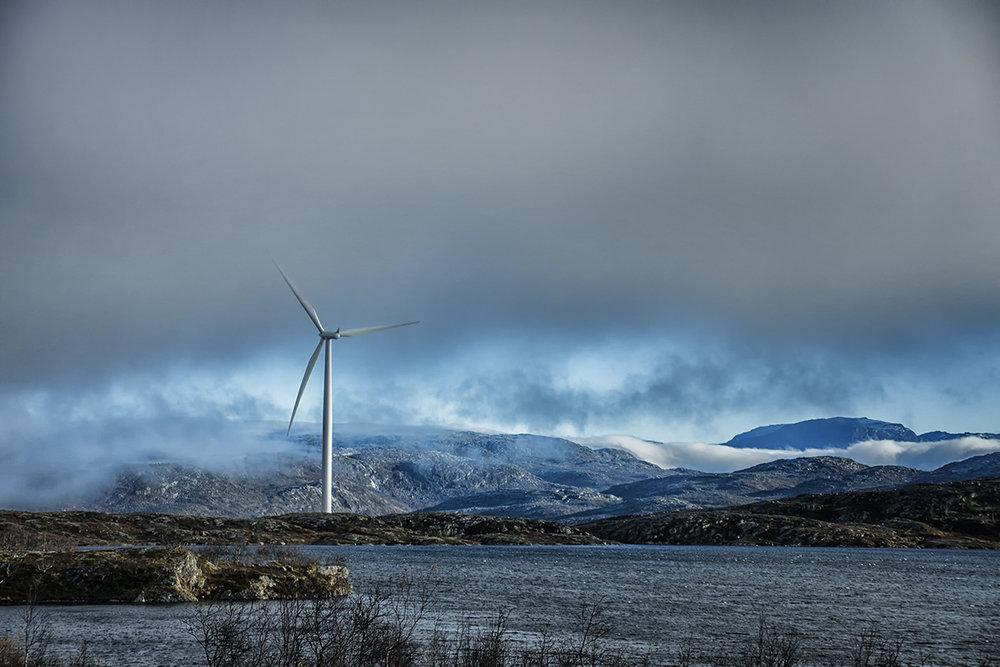 Windmill near Kiruna - Swedish Lapland