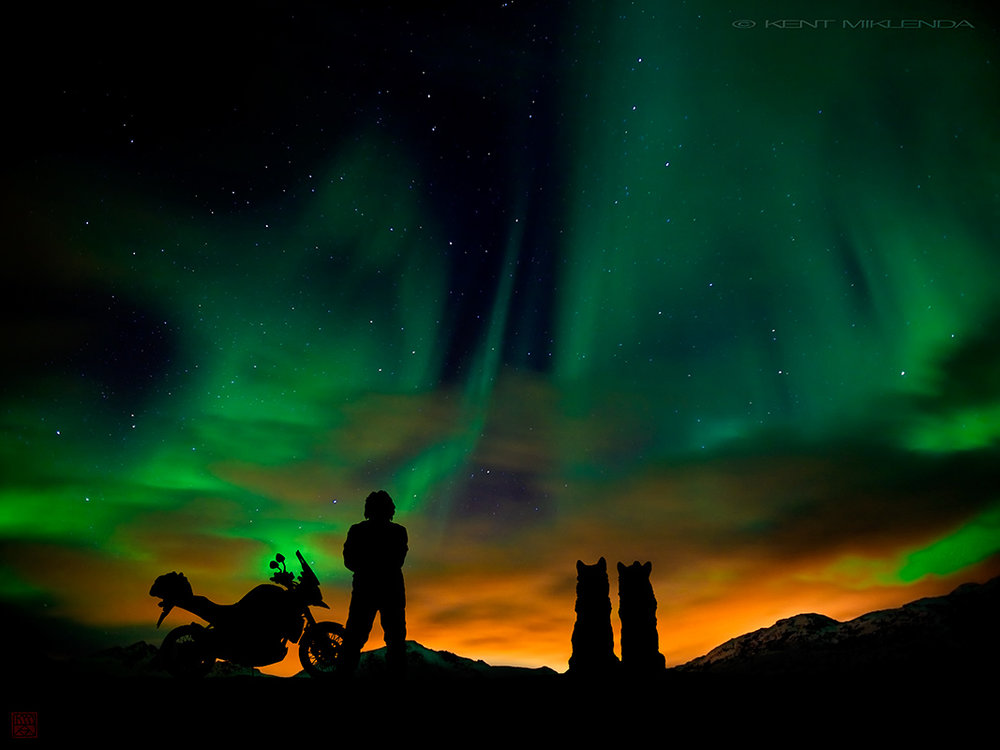 "With Geri and Freki (Odin's wolves) in the Celestial Cathedral, ""we are going to Heaven, that's where we are going"" ... ""we meet the wolves, we see the northern lights..."""