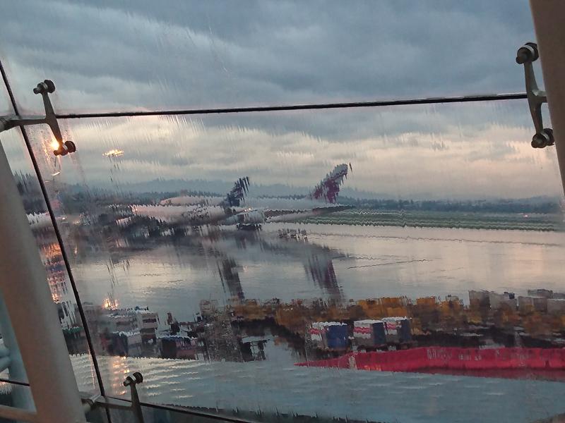 Baiyun Airport Guangzhou China - on the way to Europe from Australia