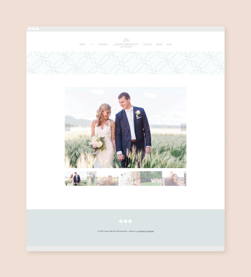 Jessie Bennett Photography Website | Letterform Creative