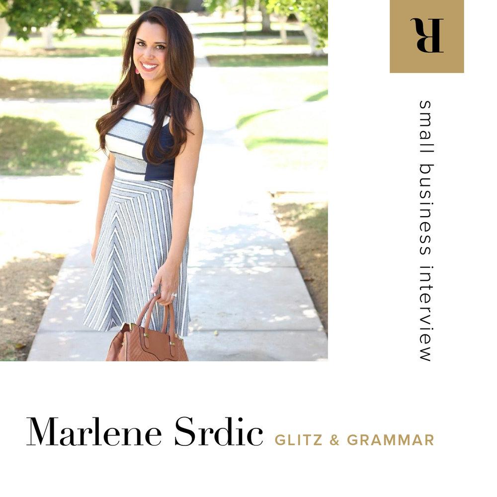 Marlene Srdic of Glitz & Grammar | Letterform Creative