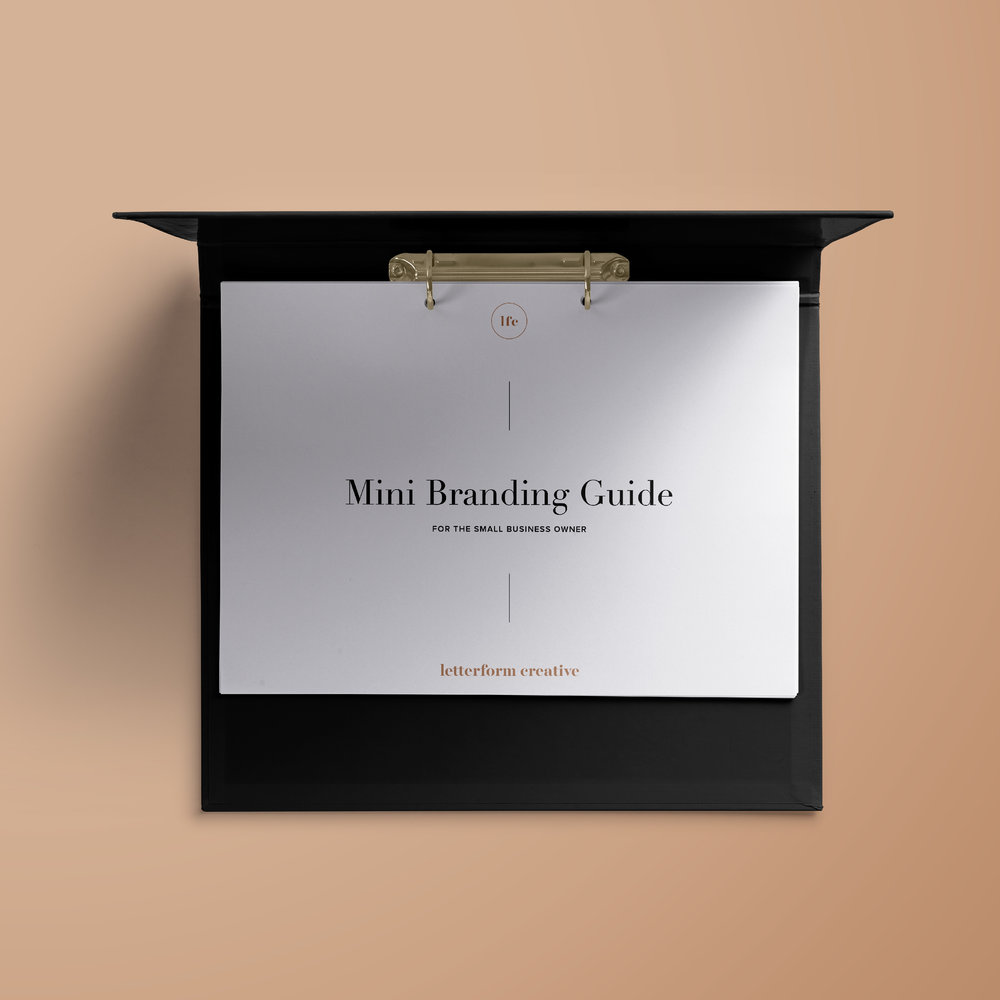 Mini Branding Guide / Letterform Creative