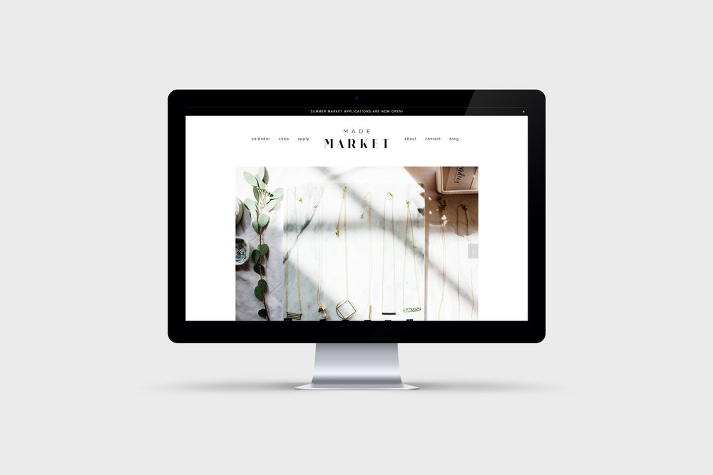 Made Market Website / Letterform Creative