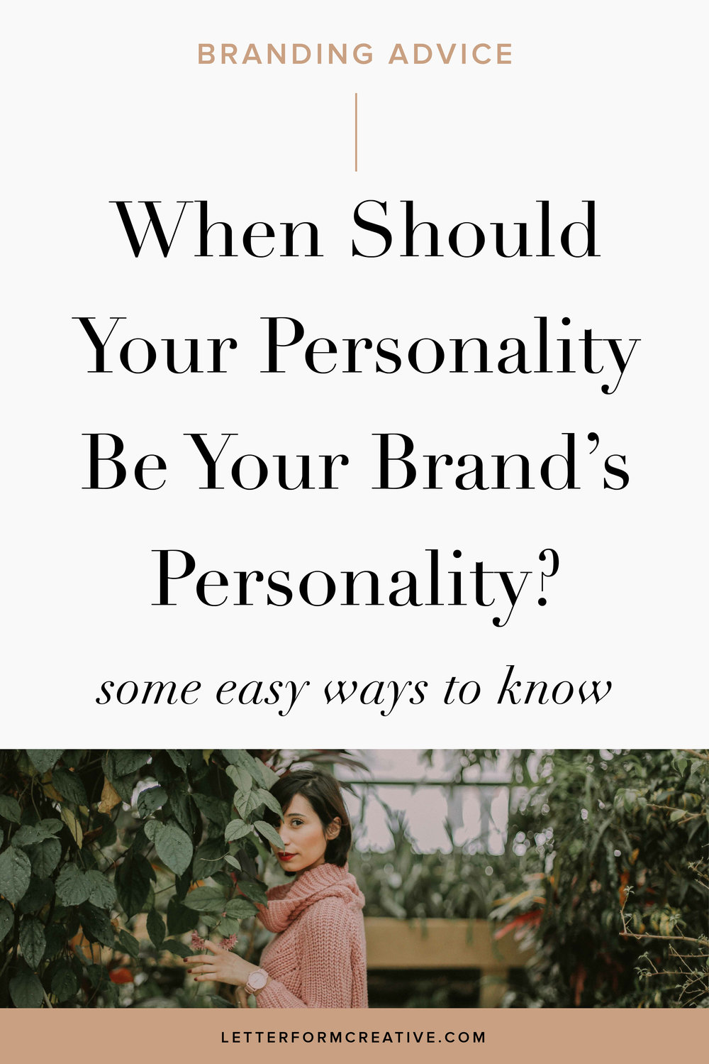 Hey Small business owner! Do you need some tips on how to define your brand's personality? This article offers advice on how to tell if you should design your brand around your own personality or if it should have its own. It includes tips for all entrepreneurs including solopreneurs, mult-owner businesses, service-based business, and product-based businesses. It includes a Brand personificiation exercise and a free mini branding guide! Click through to take advantage of all of this free branding advice from a professional!