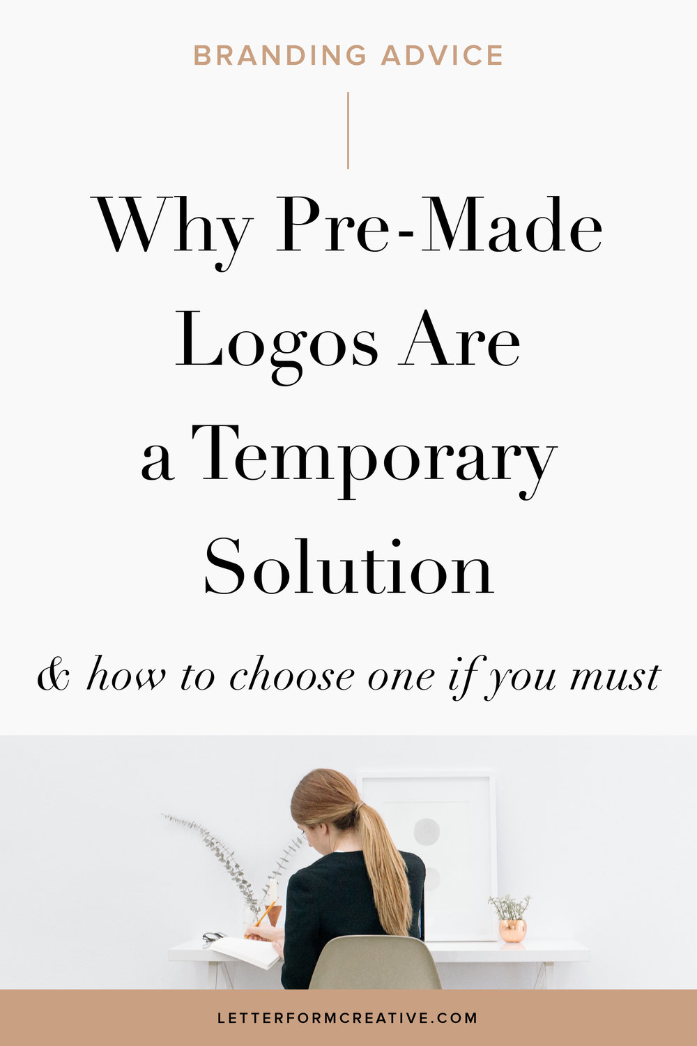 Hey Small Business owner, are you still using a cheap, pre-made logo from Etsy? If so, read this article! Not only does it explain why pre-made logos are a temporary solution, it also tells you how to choose one if you need to for the short-term. Click through to determine if you've outgrown your pre-made logo and to find out if it's time to invest in a custom one.