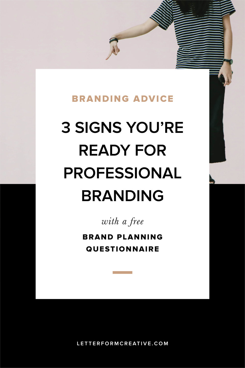 Are you a small business owner doing your own branding? Wondering if you're ready to hire a professional brand designer? These three signs will help you identify if you're ready to make the investment! Click through for a free brand planning questionnaire to prepare you for working with a designer.