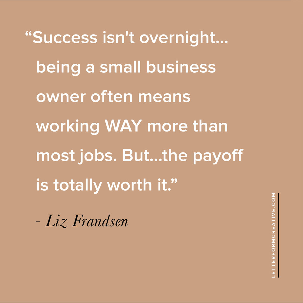 In need of a little motivation to continue on the road of entreprenuership? Read this interview from leather designer, Liz Riden, who reminds us that while being a small business owner is a lot of work, the payoff is totally worth it! You'll also have an insider's peek into her design process, where she finds manufacturers, and her favorite business podcast. Click through to read it!