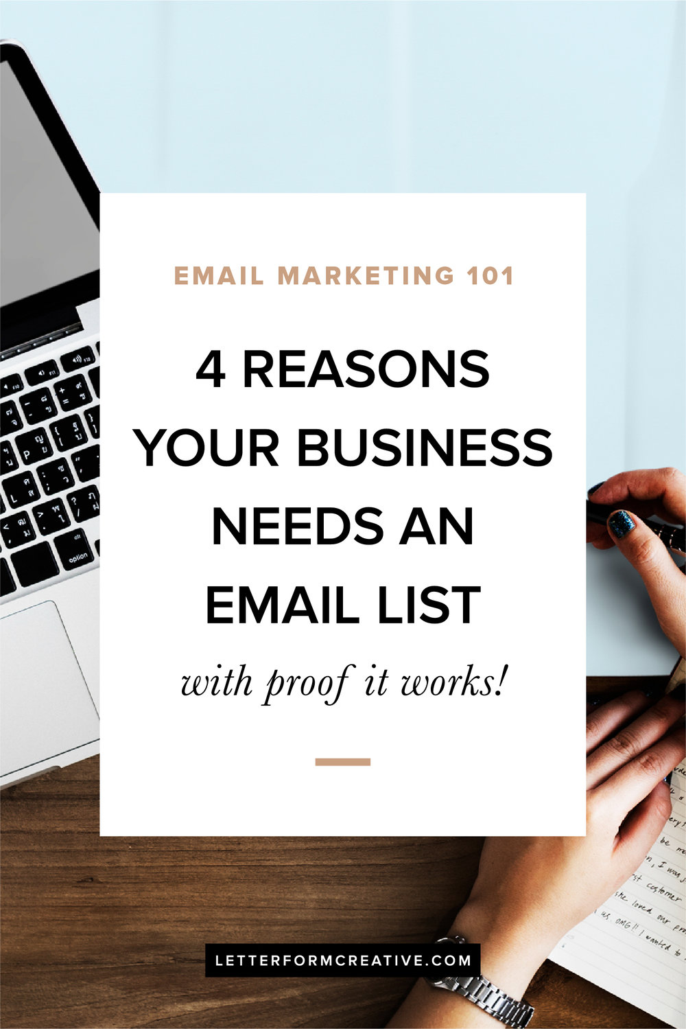 Hey small business owner, are you wondering if your business needs an email list? The answer is yes! It doens't matter if you're service-based or product-based, Either way your business can benefit from email marketing! Read the top four reasons why you need to start building your email list, along with a little proof that it clearly works!