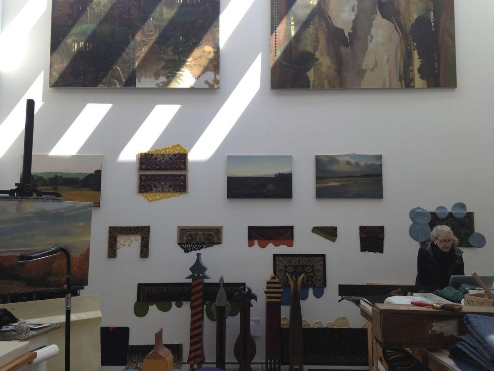 Working in the studio, fall 2014.