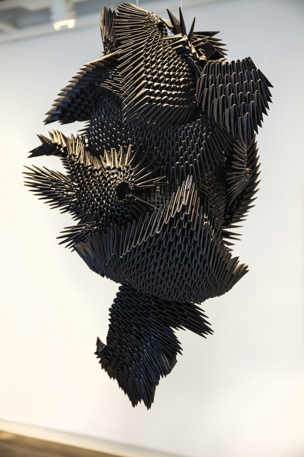 Inspired By The Flight Patterns Of Starling Birds, I Decided To Explore The  Concept Of Meditation Through Repetition Of Action. The Sculpture Has 7,000  ...