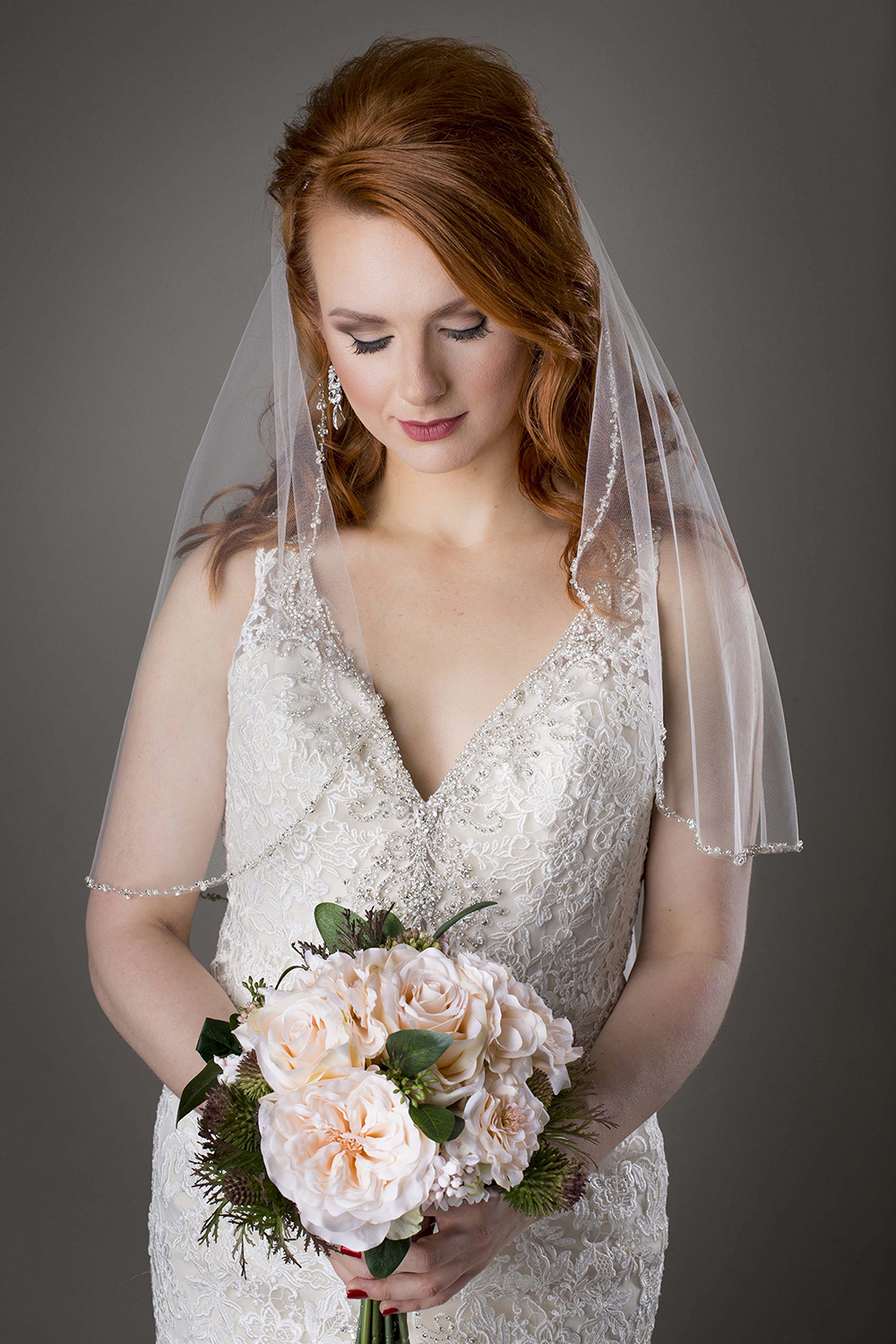 A bridal portrait guaranteed to turn heads at the reception, only at Bella Priscilla Photography.