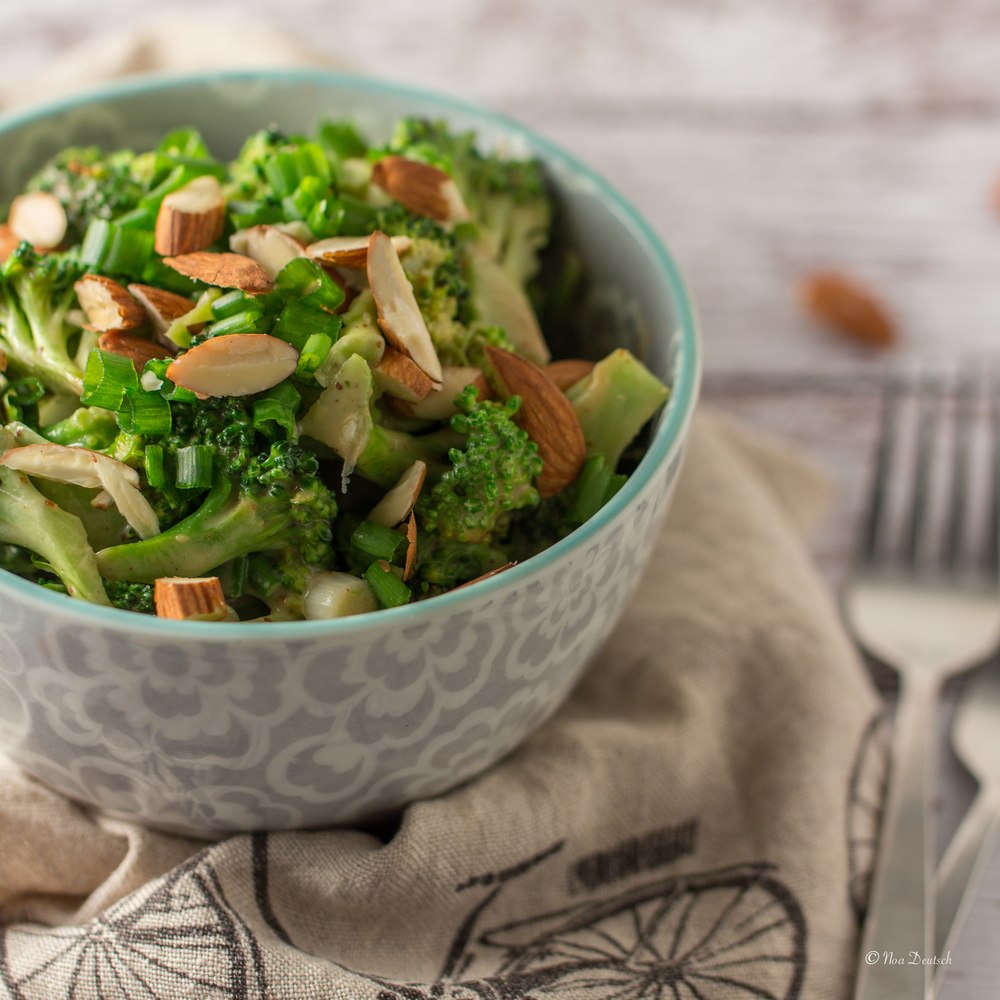 Almond, coconut and lime broccoli