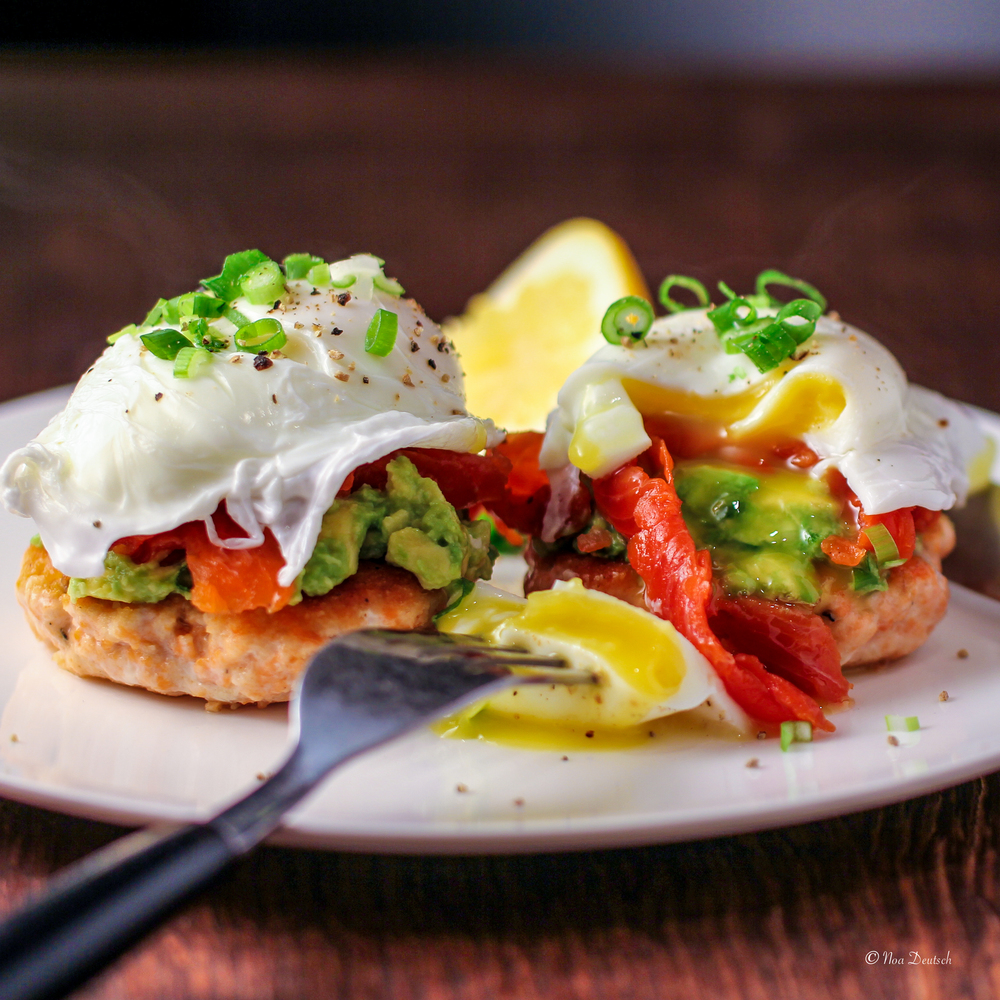 Double salmon eggs benedict