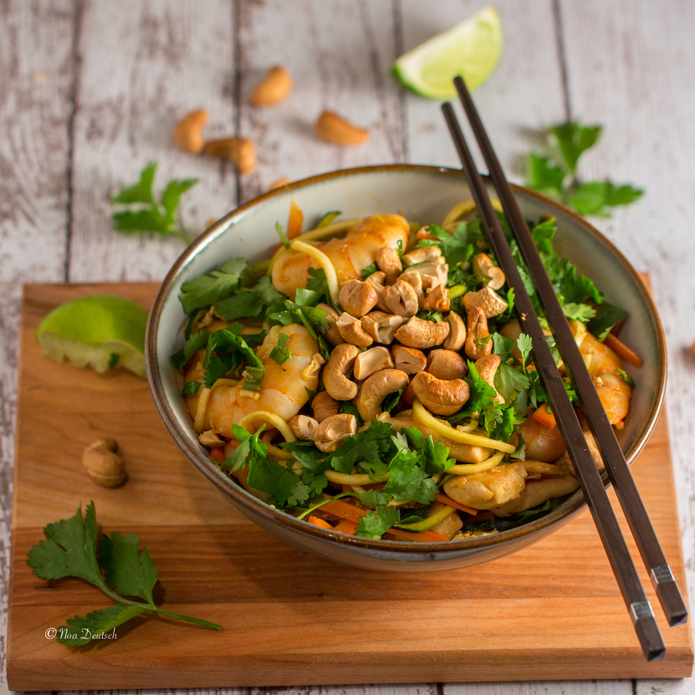 Pad Thai (with zucchini noodles)