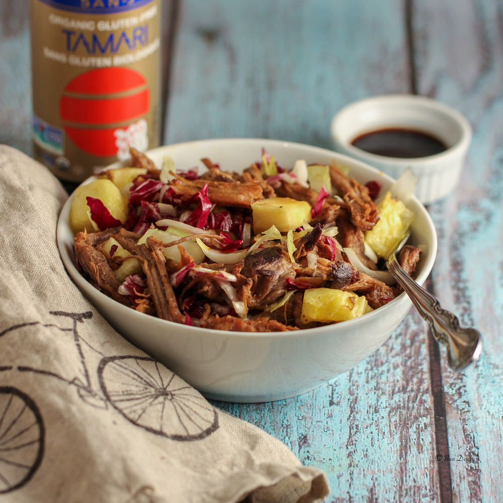 Pulled pork and pineapple salad