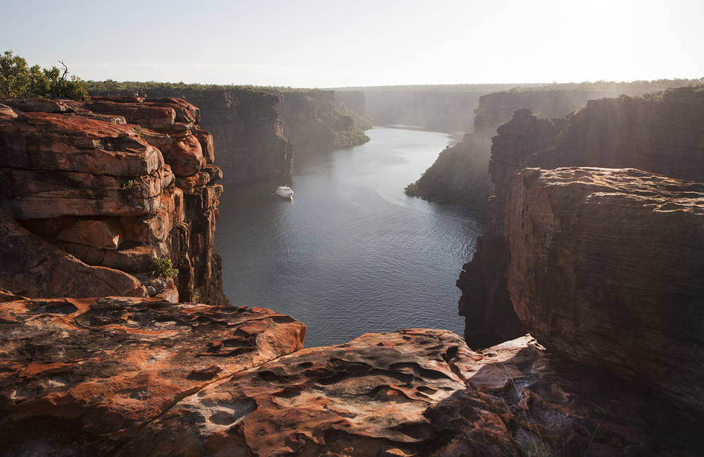 The view from the top of King George falls.