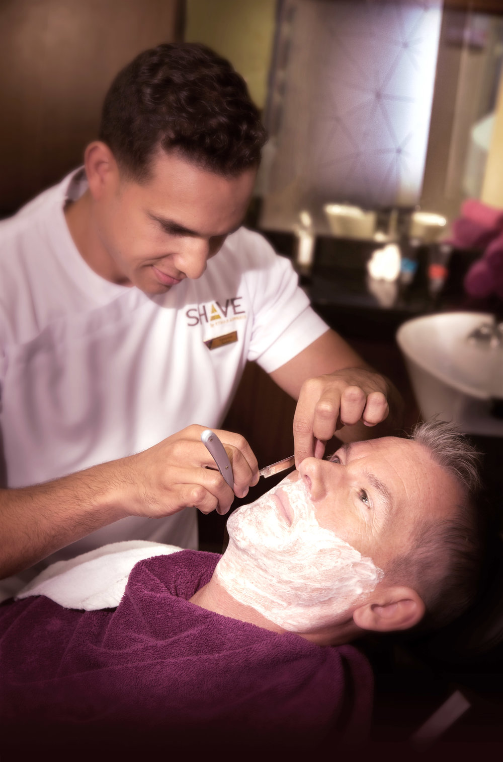 Etihad Style & Shave at the First Class Lounge & Spa in Abu Dhabi. Image supplied.