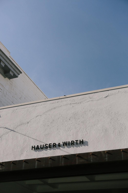 Hauser & Wirth.