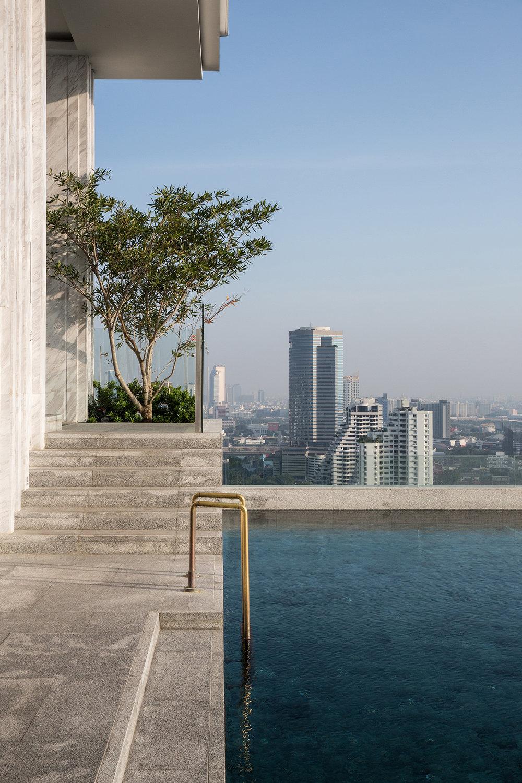 Rooftop pool at 137 Pillars Bangkok.