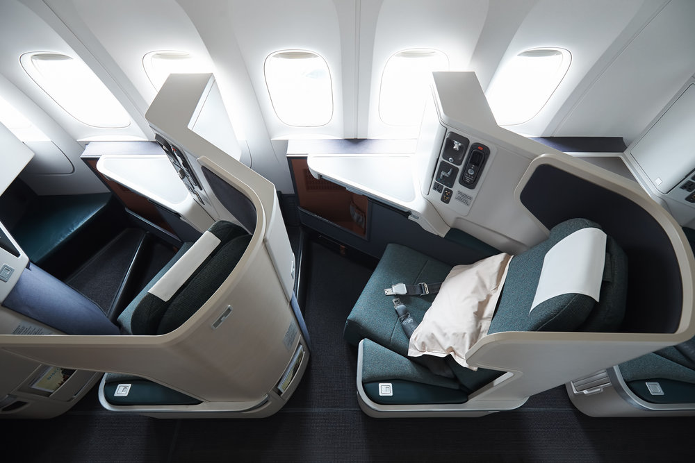 The carefully thought-out seat on Cathay Pacific's Business Class.