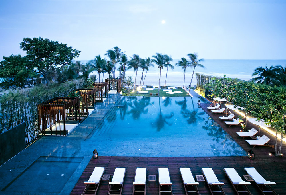 The pool at Cape Nidhra Hotel.
