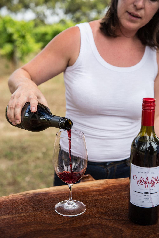 Glenarty Road Wine - walking wine tour.